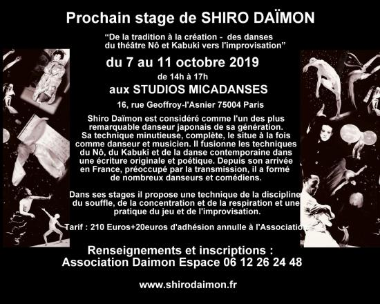 Shiro stage octobre 2019